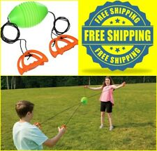 Outdoor Games Kit Ball Toss Zoom Zip Ball For Kids Boys Girls Family Patio Game