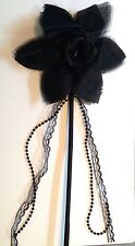 Flower Lace Bead Halloween Costume Wand Fairy Witch Gothic Magic