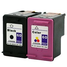 2PKs HP 60 HP60 Ink Cartridge BLACK & COLO​R CC640WN CC643WN
