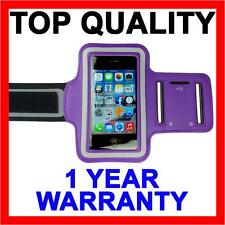 PURPLE Sports Armband Exercise Gym Running Case for Apple iPhone SE 5S 5C 5 4S 4