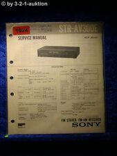 Sony Service Manual STR AV300E Receiver (#1924)