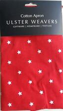 ULSTER WEAVERS RED AND WHITE STAR COTTON APRON