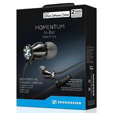 Sennheiser In Ear Headphones Momentum M2 IEi iPhone iPod iPad Earphones BLACK