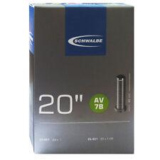 Schwalbe AV 7b Chambre à air vélo 20″ exécution : 20x7 / 8-1.00″ 23/25-451 40mm