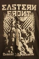 Eastern Front Descent Into Genocide Black Metal T-Shirt Size XL
