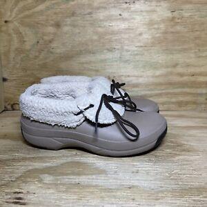 Crocs Dual Comfort Clogs Faux Fur Lined Men's 9 / Women's 11 Taupe 203597