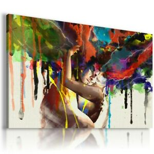 PEOPLE PAINTING FACES PRINT Canvas Wall Art Picture  AB265 UNFRAMED-ROLLED