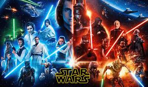 M1301 Star Wars Playmat Luke Rey Bounty Hunter Darth Vader Baby Yoda R2-D2 Maul