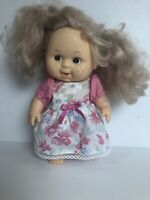 """Cititoys Doll 9"""" Vinyl Freckles Dimples Blonde Blue Eyes 1985"""