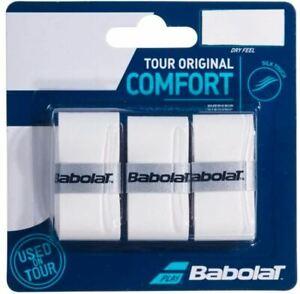 Babolat Pro Tour Overgrip White - 3 Grips- Aus Stock