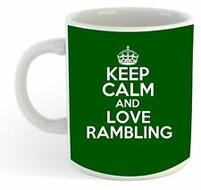 keep calm and love Rambling Taza - Verde
