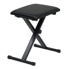 More details for piano stool keyboard bench black padded seat cushion chair adjustable height