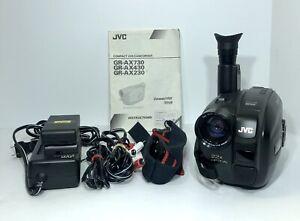 Nice JVC Handycam VHS Video Movie VHS-C GR-AX230U + Accessories UNTESTED