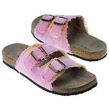 Madden Girl Aztro slide sandal pink canvas sz 7 Med NEW
