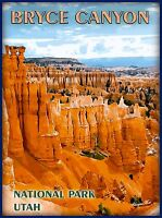 Bryce Canyon National Park Utah United States Travel Advertisement Art Poster