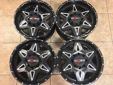 """20"""" Ford  F250 F350 F 250 F 350 Rims Wheels Worx Satin Black 8x170 Set of 4 New"""