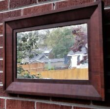 Antique American FEDERAL Pine Mahogany Veneer WAVY OLD Shabby Mirror Frame c1850