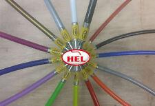YELLOW TDM850 91-96 HEL BRAIDED BRAKE HOSE 2LINE FRONT + REAR