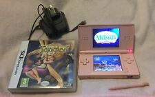 Pink Nintendo DS Lite With Charger + Disney Tangled & The Little Mermaid Games