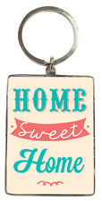 Home Sweet Home Metallic Keyring Lovely Birthday Christmas Gift Idea