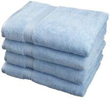 4-pc Light Blue Superior 600 Gsm Long Staple Combed Cotton Bath Towel Set