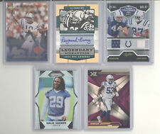 Indianapolis Colts auto jersey ball serial # RC 10 card lot Manning Berry Mack