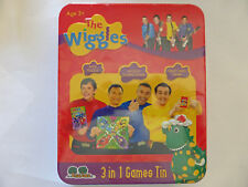 NEW The Wiggles 3 in 1 Games Tin Mini Puzzle Snap Cards Wiggly Board Game Age 3+
