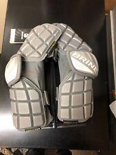 $110 Nwt Brine Lacrosse Arm Guards - Ceag17 Clutch Elite, Large, Grey Gray