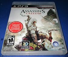 Assassin's Creed III PlayStation 3 *Original Black Label Packaging! New!