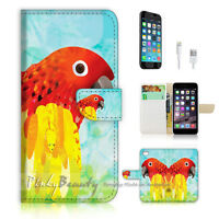 ( For iPhone 7 Plus ) Wallet Case Cover P1596 Parrot