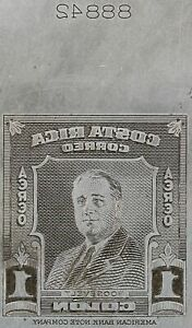 American Bank Note Company: Costa Rica Printing Plate C-165 (Airmail, Roosevelt)