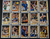 1991-92 Upper Deck Indiana Pacers Team Set Of 15 Basketball Cards