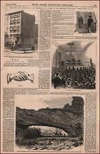 SECRET ANTI-CATHOLIC ORDER, Meeting, Hand Shake, antique engraving original 1876
