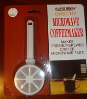 TOPS 55723 RAPID BREW ONE CUP COFFEE MAKER MICROWAVE