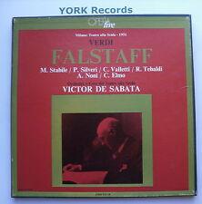 LO 14.3 - VERDI - Falstaff DE SABATA / STABILE / SILVERI- Ex 3 LP Record Box Set