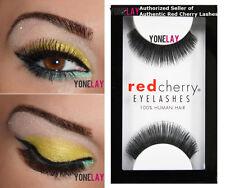 1 Pair AUTHENTIC RED CHERRY Lashes #20 HON Human Hair False Eyelashes Strip Lash
