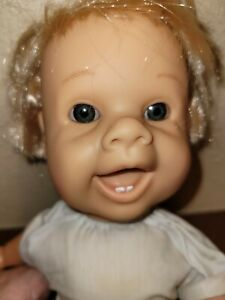 VTG 1995 Famosa Expressions Doll 15 In Vinyl & Cloth Mouth Opens and Closes