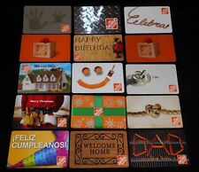 15 Collectible Gift Card Home Depot Store Hardware Man Diff Lot No Value <2010