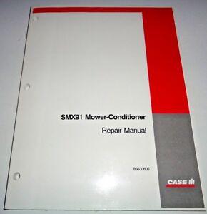 Case IH SMX91 Mower Conditioner Service Repair Shop Workshop Manual 5/02 CIH