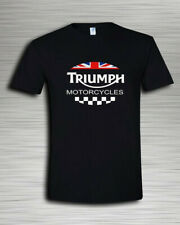 Triumph Motorcycle UK Flag Men's T Shirts Funny Vintage Gift Men Women