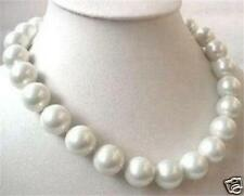 Big 14mm AAA White sea south SHELL PEARL necklace 18""