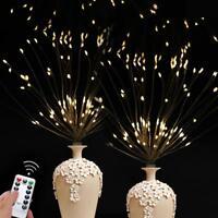 Firework LED Fairy Lights Copper Wire Strip String Lights Wedding Decor Remote