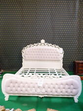 BESPOKE ~ Super King Chatelet® Bed Gothic Ivory Cream French chesterfield style