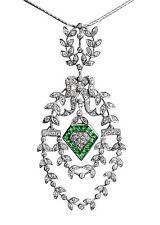 ENCANTADOR,victorianischer Colgante,esmeralda