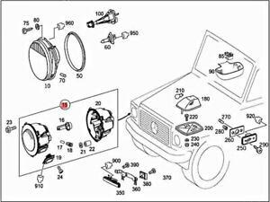 Genuine MERCEDES W463 G-CLASS W463 Cabrio Lamp unit 4638200759