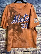 Vintage Distressed New York Mets1 Of 1 T-shirt Orange 🍊 Tie Dye Rare Only One⚾️