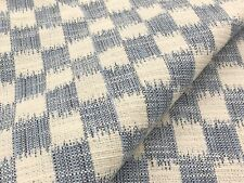 Brunschwig & Fils Woven Ikat Checked Fabric- Pinceau French Blue 2 yd 8013102.5