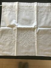 Descamps 100% white cotton embroidered laundry bag - NEW