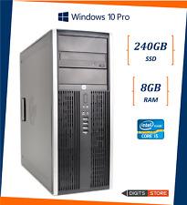 Computer pc fisso Desktop usato ricondizionato Hp 8300 Mini-Tower 8gb SSD 240gb