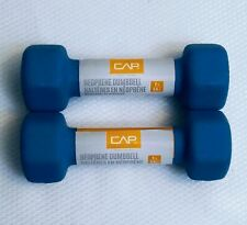 NEW CAP Neoprene Hex 2 Lb Dumbbell Hand Weights 1 Set Pair Fast Shipping!